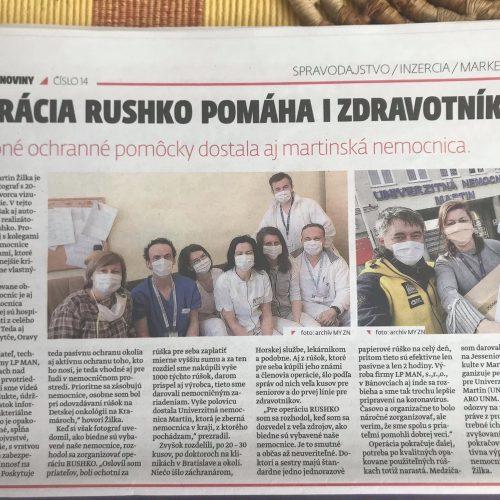 o Operácii RUSHKO píšu aj v novinách